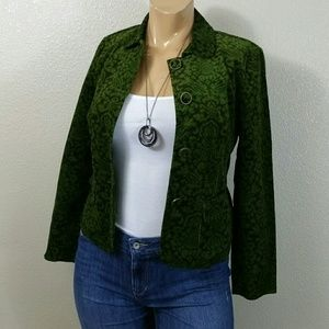 Talbots Green Corduroy Blazer